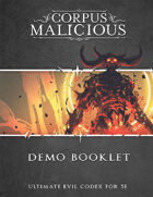 Corpus Malicious Demo Booklet