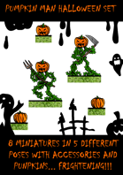 Fantasy Punpkin Men Halloween Dungeon Encounter
