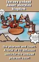 fantasy desert kingdom undead pharaoh and court