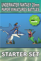 Underwater Fantasy 28mm Paper Miniatures Battles Starter Box