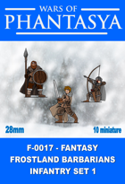 F-0017 - Fantasy Frostland Barbarians Infantry Set 1