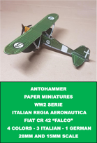 Ww2-0001 - Italians - fiat cr 42 falco