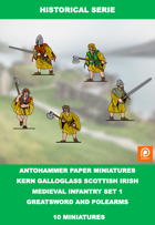 H-0001 - kern Galloglass Scottish Irish Set 1