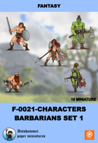 F-0021-characters Set - Barbarians Set 1