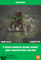 F-0026-undead Bone Giant And Graveyard Golem