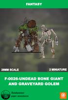 F-0026-undead Bone Giant And Graveyard Golem