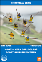 H-0003 - kern Galloglass Scottish Irish Pikemen