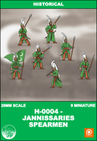 H-0005 - Jannissaries Spearmen