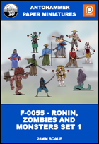 F-0055 - RONIN, ZOMBIE AND MONSTERS SET 1