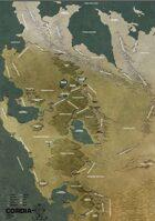 Mythlands RPG Cordia - Wiek Pary i Stali (Mapa)