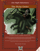 The Ruby Order (Levels 11-12)
