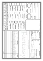 First Five Fantasy Roleplaying Character Sheet