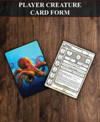 Player Creature Card Form