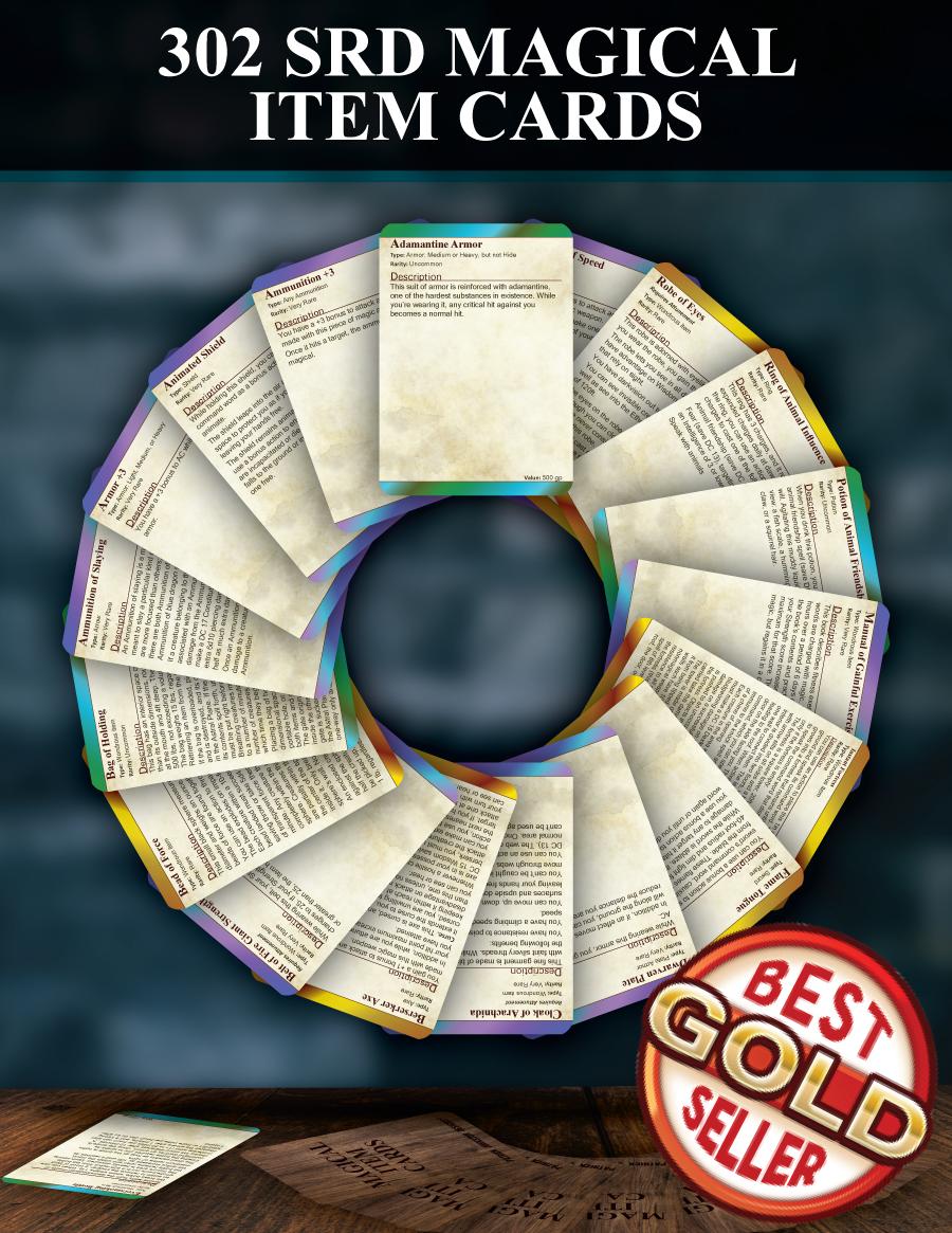5e Magical Item Cards Patrick Mitchell Johnston Drivethrurpg Com