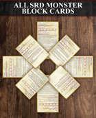 All SRD Monster Block Cards [BUNDLE]