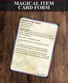 Magical Item Card Form