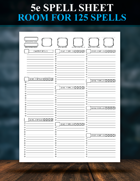 5e Spell Sheet Redesigned