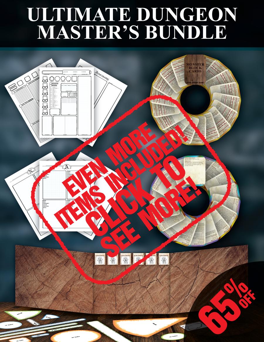 Ultimate Dungeon Master's Bundle [BUNDLE] - Patrick Mitchell Johnston |  DriveThruRPG com