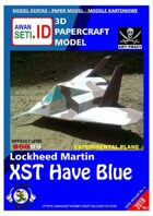 Chibi Paper Aircraft Lockheed XST Have Blue
