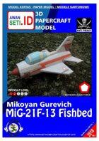 Chibi Paper Aircraft MiG-21F-13 Fishbed (AURI)