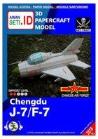 Chibi Paper Aircraft Chengdu J-7 (PLAAF)