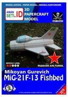 Chibi Paper Aircraft MiG-21F-13 Fishbed (USSR)