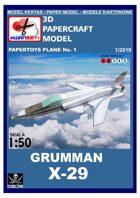 Grumman X-29 Papertoys