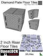OpenLOCK 2 inch Riser Tiles - Diamond Plate Single Oblique Pattern (Fine) (STL Files)