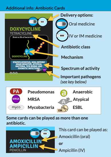 antibiotic card details