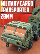 Military Cargo Transporter: 3D Printable for 28mm Wargames