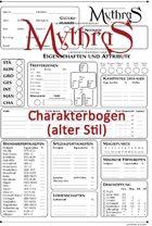 Mythras Charakterbogen (alter Stil)