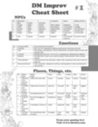 DM Improv Cheat Sheet 1