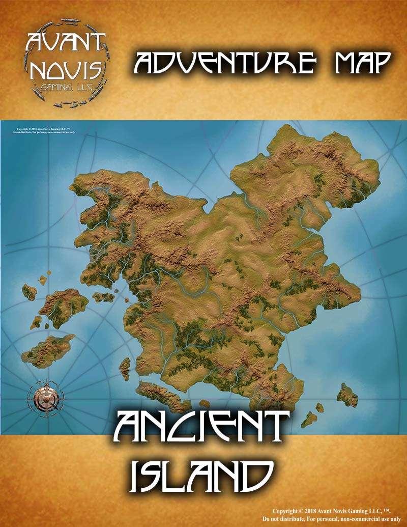 Adventure Map: Ancient Island - Avant Novis Gaming, LLC ... on