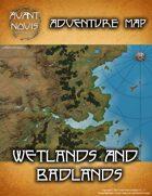 Adventure Map: Wetlands and Badlands