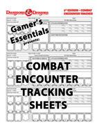 Dungeons & Dragons 5e - Encounter Tracker Sheet