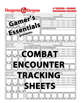 Dungeons & Dragons 5e - Encounter Tracker Sheet