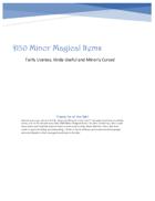 D30 Minor Magical Items