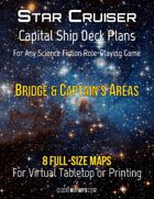Capital Ship Deck Plans: Bridge & Captain's Areas