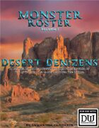 Monster Roster I: Desert Denizens