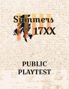 Public Playtest- Summers of 17XX