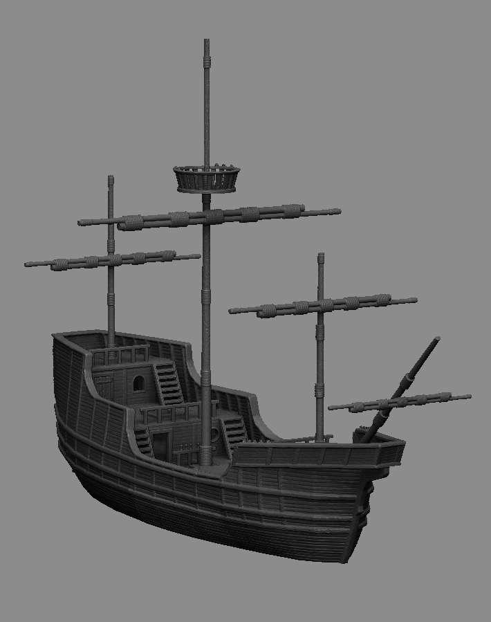 Medieval Scenery - Merchant Trading Ship - Dark Realms | DriveThruRPG com