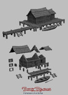 Medieval Scenery - Fisherman's Hut & Pier
