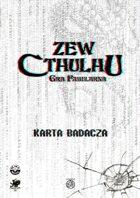 Zew Cthulhu 7ed. - Karta Badacza Współczesna