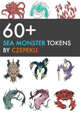 60+ Sea Monster Tokens