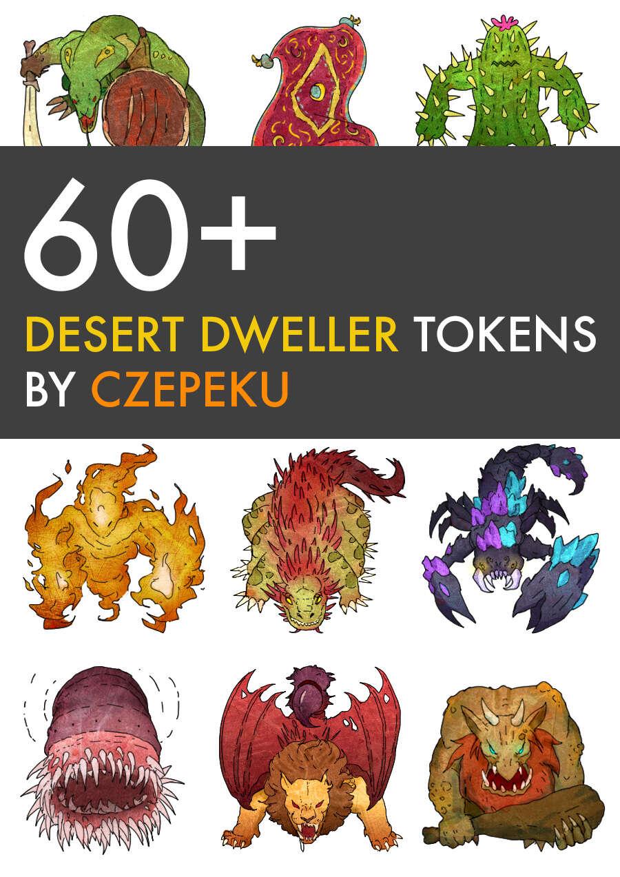60+ Desert Dweller Tokens - Czepeku | DriveThruRPG com
