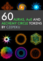 60 Auras, AOEs and Alchemy Circle Tokens and More