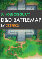 Jungle Ziggurat DnD Battlemaps