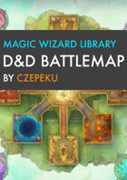 Magic Wizard Library DnD Battlemaps