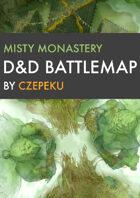Misty Monastery DnD Battlemaps