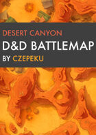 Desert Canyon DnD Battlemaps